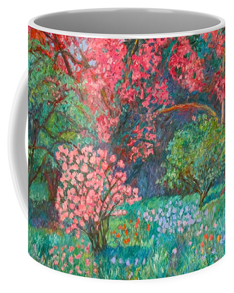 Landscape Coffee Mug featuring the painting A Memory by Kendall Kessler
