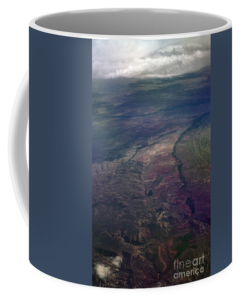 Aerial Photography Coffee Mug featuring the photograph A Midwestern Landscape by Richard Rizzo