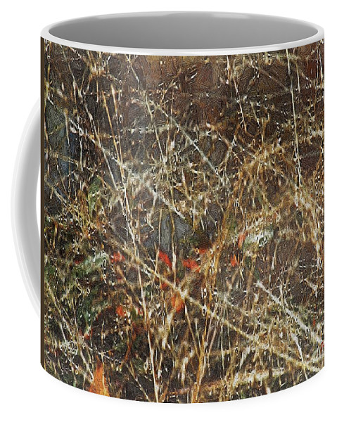 Autumn Coffee Mug featuring the painting A Misty Rain In Autumn by RC DeWinter
