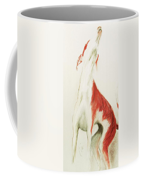 Pastel Coffee Mug featuring the drawing A Moment In Time by Cori Solomon