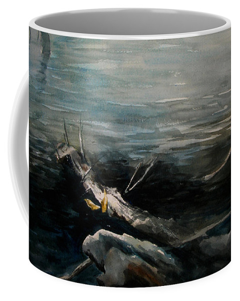 Landscape Coffee Mug featuring the painting A Moment In Time by Rachel Christine Nowicki