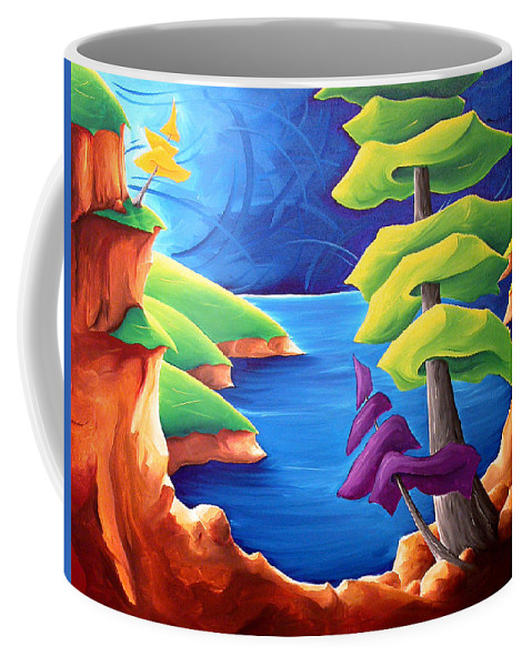 Landscape Coffee Mug featuring the painting A Moment In Time by Richard Hoedl