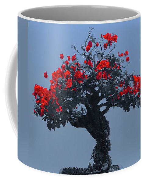 Bonsai Coffee Mug featuring the photograph A Moments Serenity by Tim G Ross