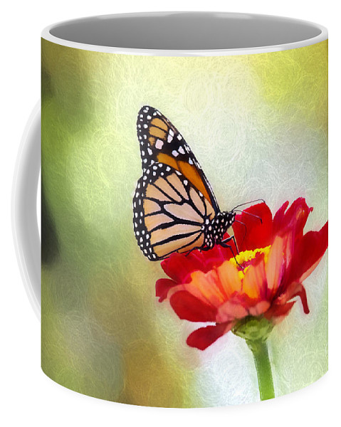 Nature Coffee Mug featuring the photograph A Monarch Moment by Sharon McConnell