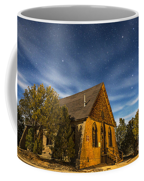 Big Dipper Coffee Mug featuring the photograph A Moonlit Nightscape Of The Historic by Alan Dyer