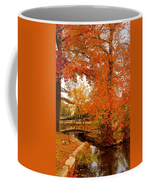 New Jersey Coffee Mug featuring the photograph A Morning In Autumn - Lake Carasaljo by Angie Tirado