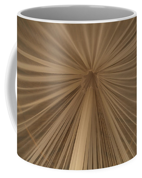 Tulum Coffee Mug featuring the photograph A Mosquito Net, Viewed From The Inside by Stephen Alvarez