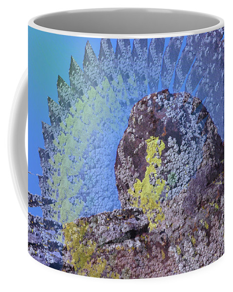 Rocks Coffee Mug featuring the photograph A Mossy Rock by Jeff Swan