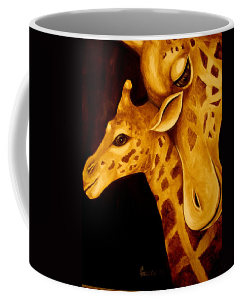 Coffee Mug featuring the painting A Mother by Glory Fraulein Wolfe