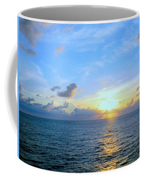 Dawn Coffee Mug featuring the photograph A New Dawn At Sea by Arlane Crump