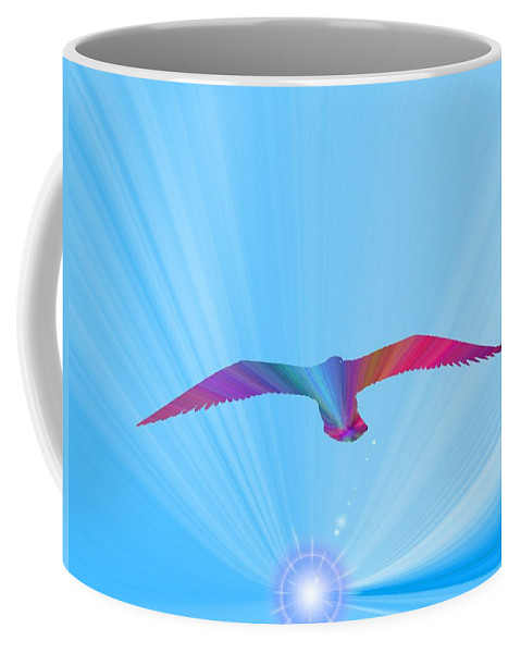 Abstract Coffee Mug featuring the digital art A New Day Dawning by Tim Allen