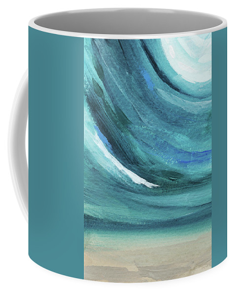 Abstract Coffee Mug featuring the painting A New Start- Art by Linda Woods by Linda Woods