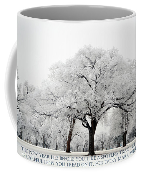 Winter Coffee Mug featuring the photograph A New Year by Rebecca Fourcher
