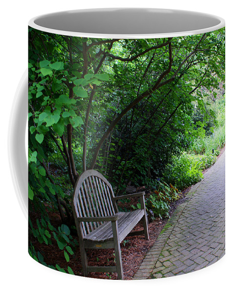 Bench Coffee Mug featuring the photograph A Nice Sit 3 by Jean Haynes