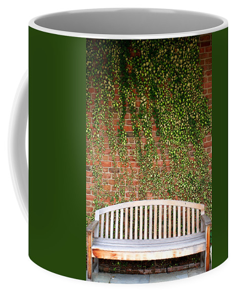 Bench Coffee Mug featuring the photograph A Nice Sit by Jean Haynes