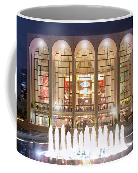 Lincoln Center Coffee Mug featuring the photograph A Night At Lincoln Center by Mark Andrew Thomas