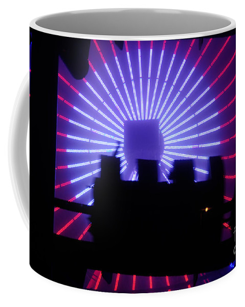 Clay Coffee Mug featuring the photograph A Night At Santa Monica Pier by Clayton Bruster