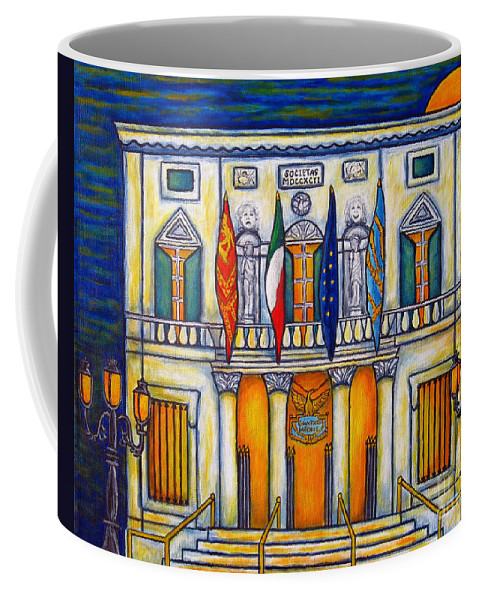 Theatre Coffee Mug featuring the painting A Night at the Fenice by Lisa Lorenz