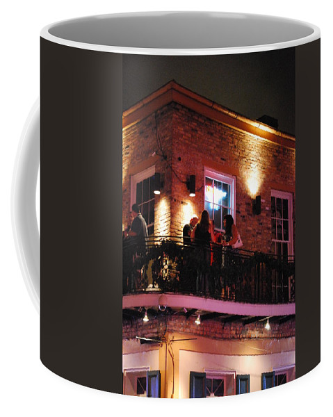 New Orleans Coffee Mug featuring the photograph A Night Out by Armand Hebert