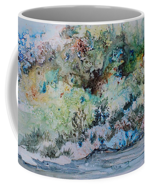 Landscape Coffee Mug featuring the painting A Northern Shoreline by Joanne Smoley