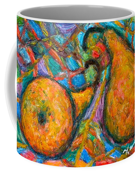 Pears Coffee Mug featuring the painting A Pair by Kendall Kessler