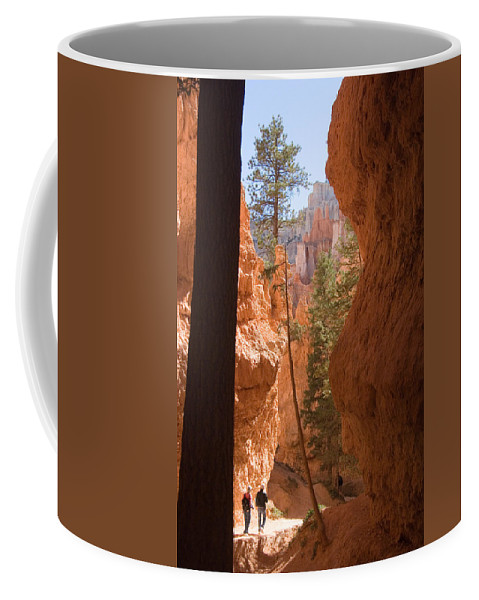 Canyons Coffee Mug featuring the photograph A Pair Of Hikers Go by Taylor S. Kennedy