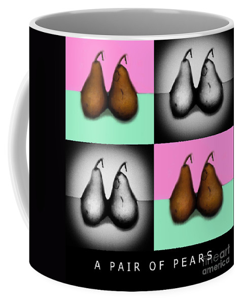 Pear Coffee Mug featuring the photograph A Pair Of Pears by Madeline Ellis