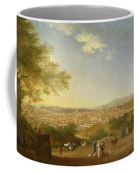Panoramic Coffee Mug featuring the painting A Panoramic View Of Florence From Bellosguardo by Thomas Patch