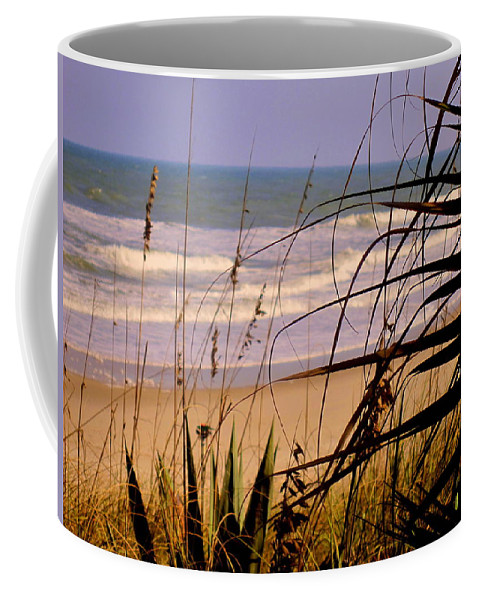 Peek At The Shore Coffee Mug featuring the photograph A Peek At The Shore by Susanne Van Hulst