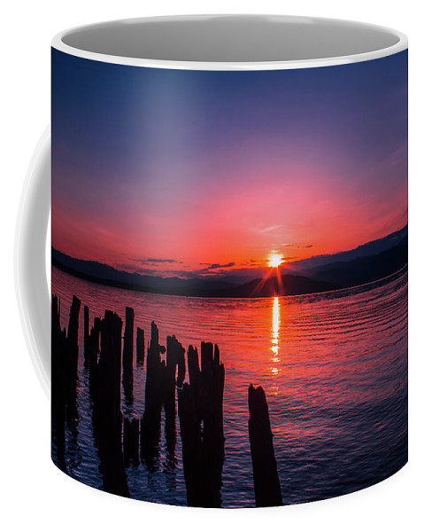 Sunrise Coffee Mug featuring the photograph A Pend Oreillle Sunrise by Josh Smith Photography