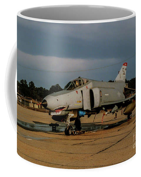 Mcdonnell Douglas F-4c Phantom Ii Coffee Mug featuring the photograph A Phantom In Waiting by Tommy Anderson