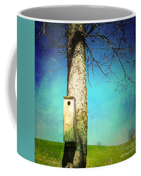 Nest Box Coffee Mug featuring the photograph A Place Called Home by Kerri Farley
