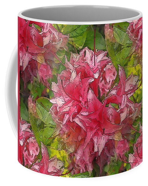 Pink Coffee Mug featuring the digital art A Prediliction For Pink by Tim Allen
