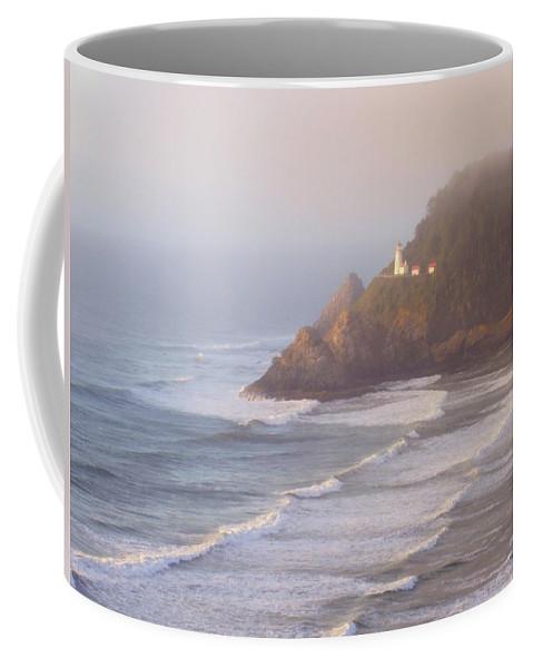 Oregon Coast Coffee Mug featuring the photograph A Quiet Place by Deborah Crew-Johnson