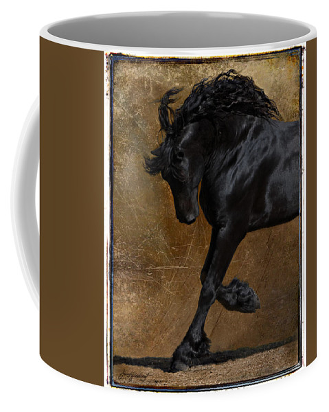 Horse Coffee Mug featuring the photograph A Regal Bow by Jean Hildebrant