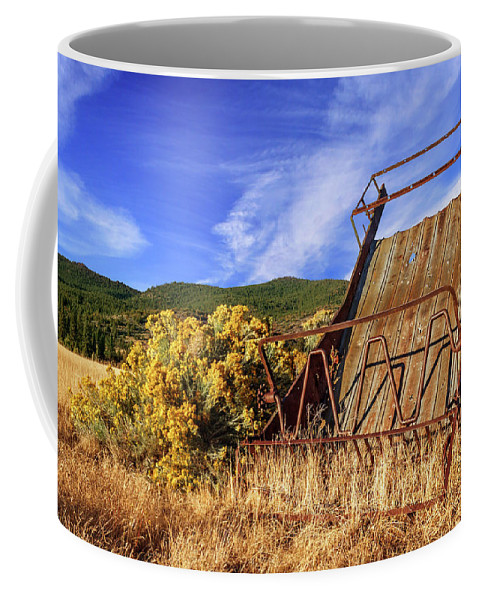 Old Coffee Mug featuring the photograph A Reminder Of The Past by James Eddy