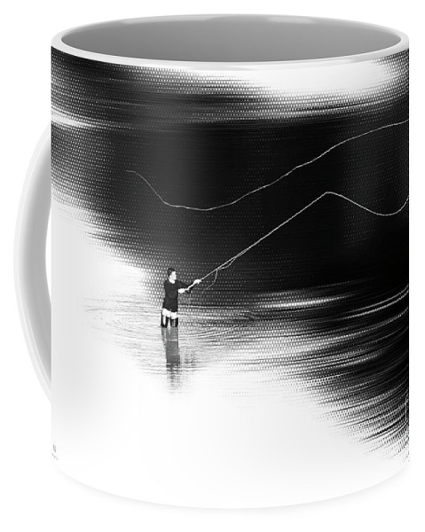 Fly Fisching Coffee Mug featuring the photograph A River Runs Through It by Hannes Cmarits