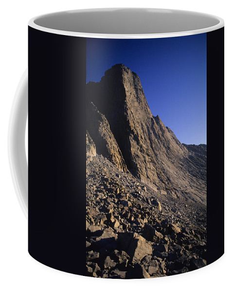Big Horn Mountains Coffee Mug featuring the photograph A Rock Face On Cloud Peak In The Big by Bobby Model
