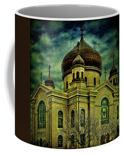 Cathedral Coffee Mug featuring the photograph A Russian In Brooklyn by Chris Lord