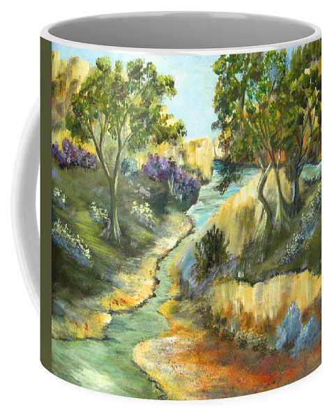 Landscape Coffee Mug featuring the painting A Sandy Place To Rest by Ruth Palmer
