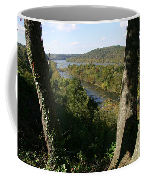 Harpers Ferry Coffee Mug featuring the photograph A Scenic View Of The Potomac River by Stephen St. John