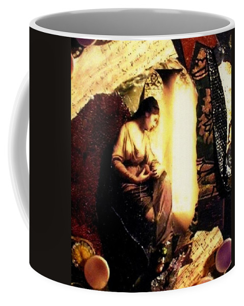 Mixed Media Coffee Mug featuring the mixed media A Secret Place by Gail Kirtz