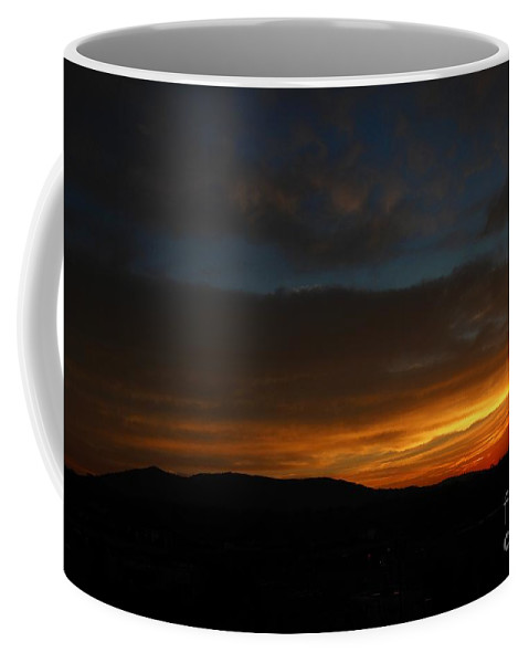 Sky Coffee Mug featuring the digital art A Separation Of States by Dan Stone