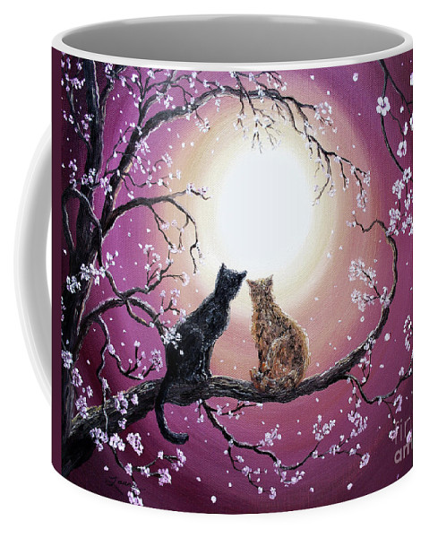 Zen Coffee Mug featuring the painting A Shared Moment by Laura Iverson