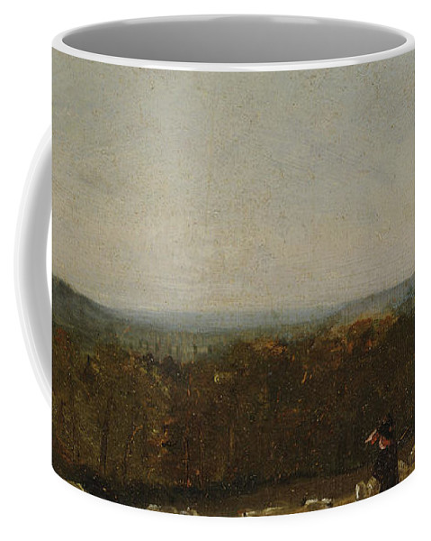 John Constable Coffee Mug featuring the painting A Shepherd In A Landscape by John Constable