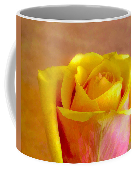 Flower Coffee Mug featuring the photograph A Single Rose by Ches Black