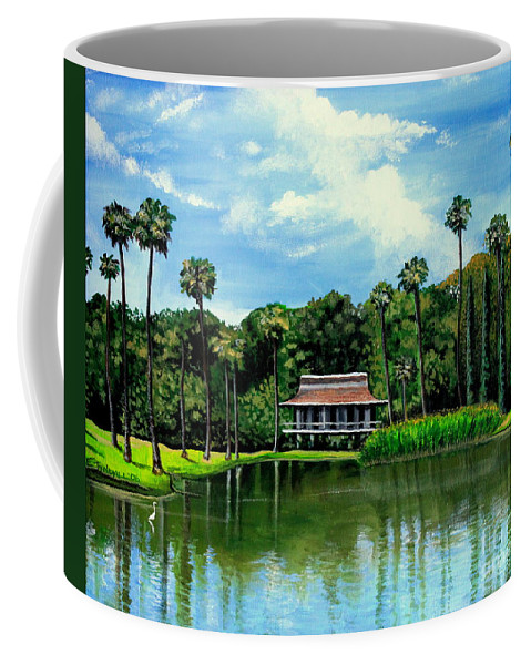 Landscape Coffee Mug featuring the painting A Slice Of Paradise by Elizabeth Robinette Tyndall
