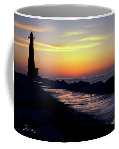Color Coffee Mug featuring the photograph A Sliver Of Sunset by Frederic A Reinecke