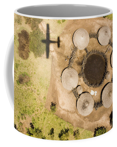 Landscape Coffee Mug featuring the photograph A Small Boma And Family Compound by Michael Fay