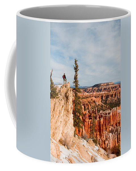 Utah Coffee Mug featuring the photograph A Solitary Hiker Looks by Taylor S. Kennedy